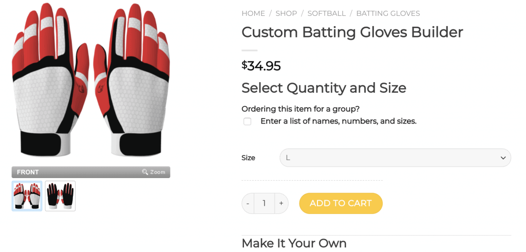 best custom batting gloves