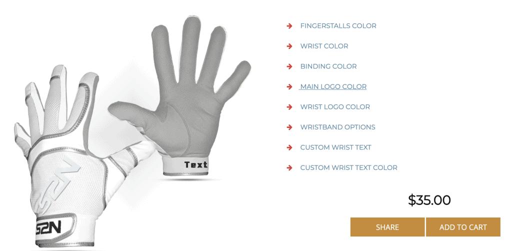 batting gloves for sale